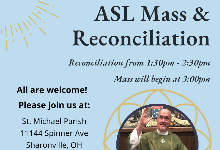 ASL Mass & Reconciliation with Fr. Mike!