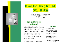 Bunko Night at St. Rita!!